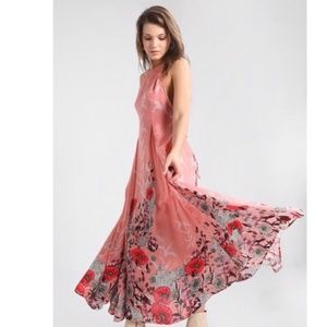 NWT Free People Embrace It Printed Maxi Dress